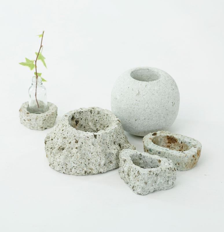 大谷石製花器・鉢