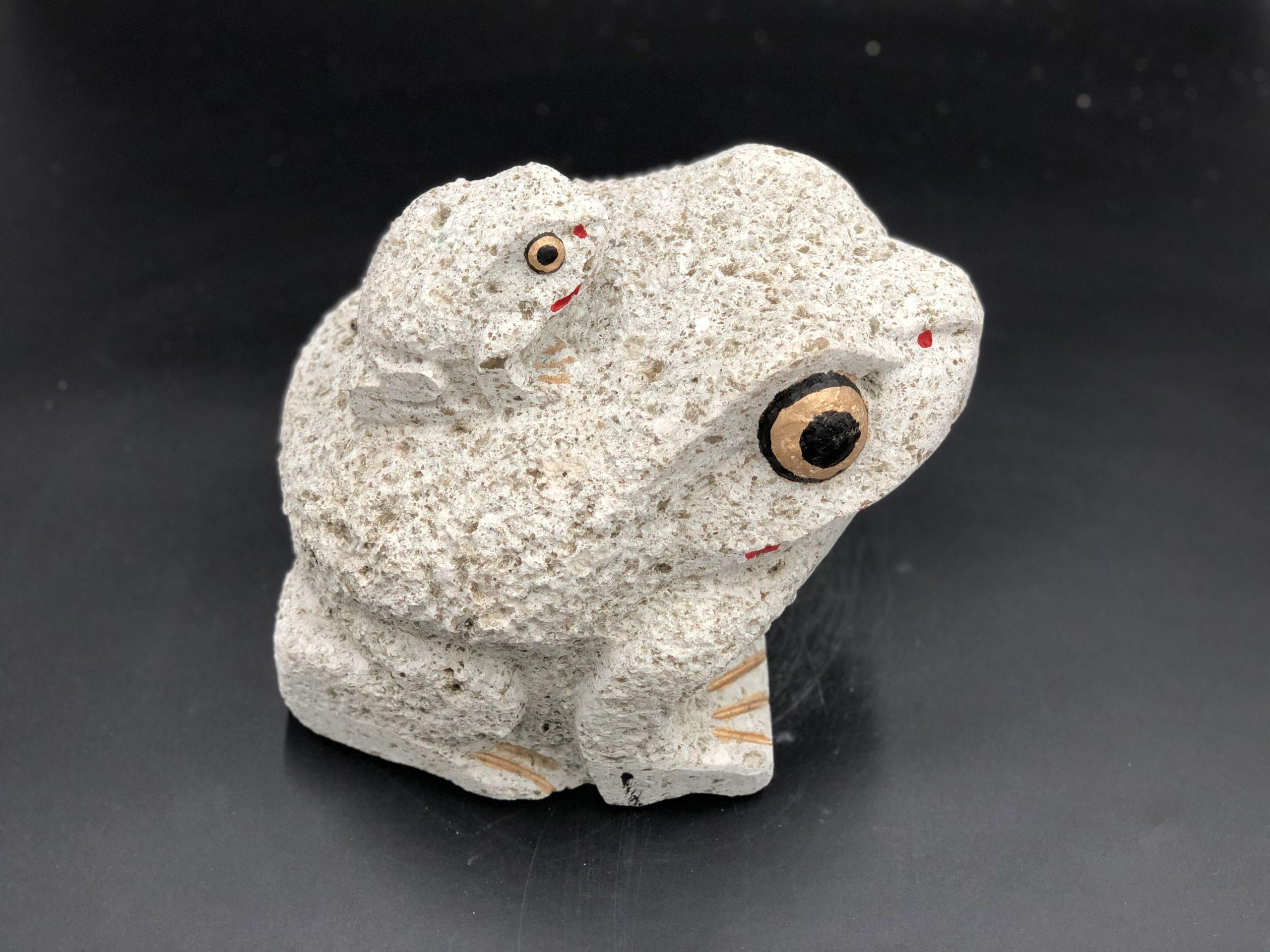 大谷石9寸親子カエル
