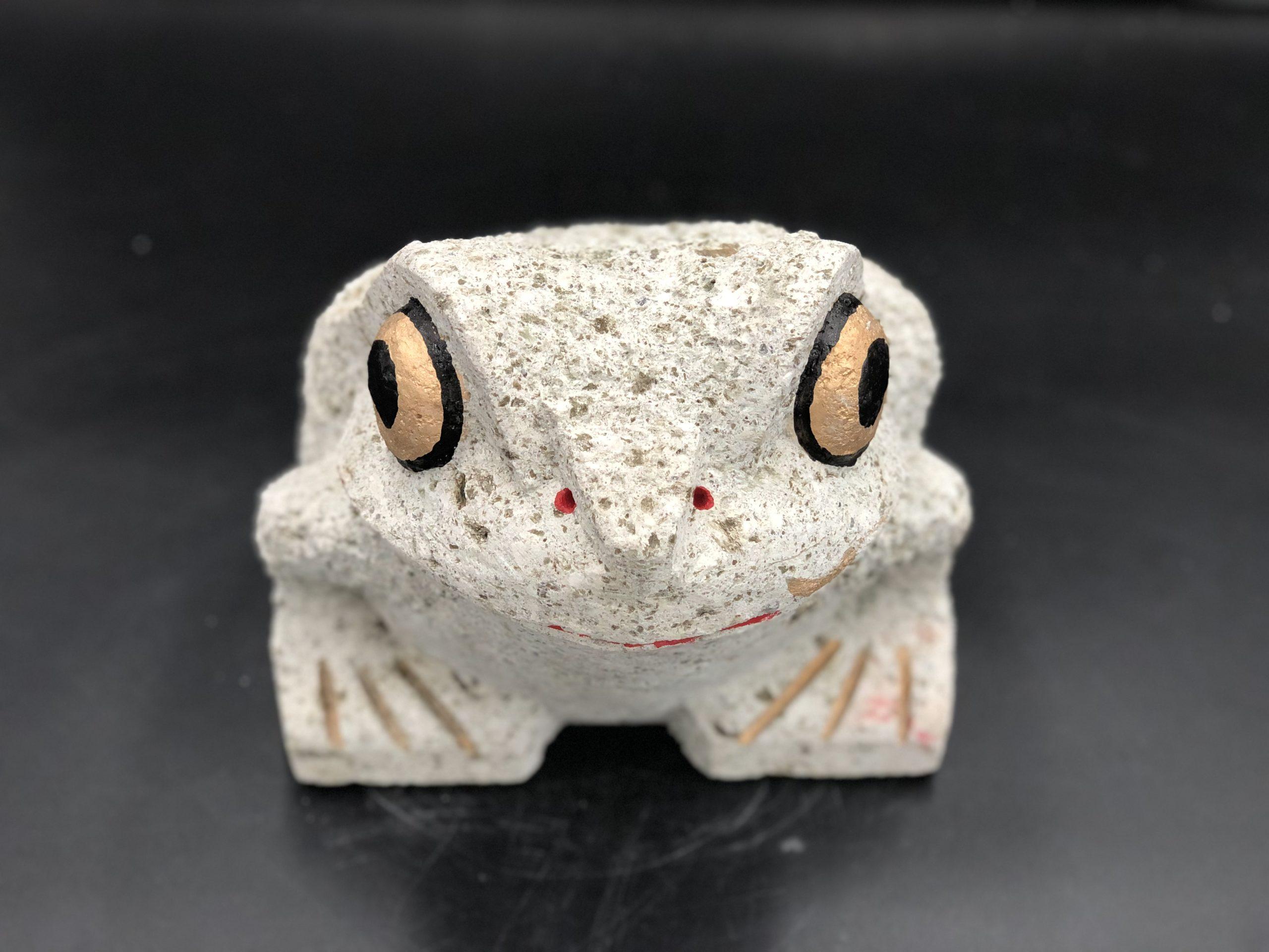 大谷石9寸カエル