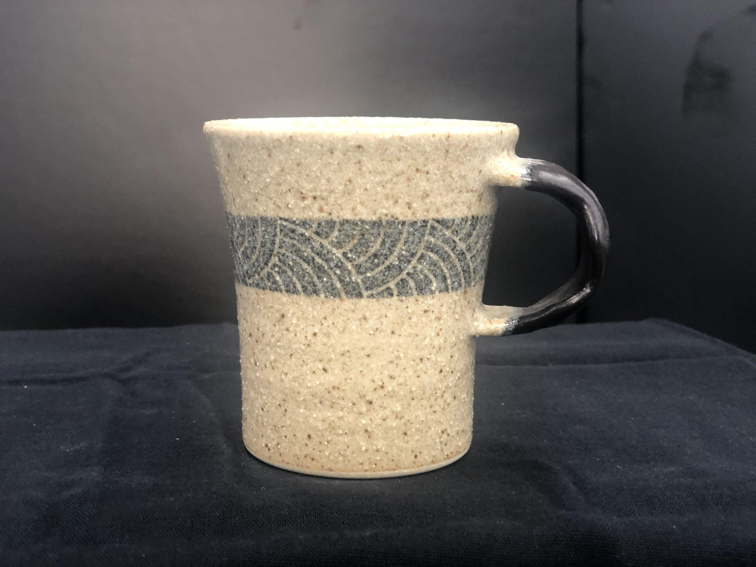 てまり窯 コーヒーカップ・黒