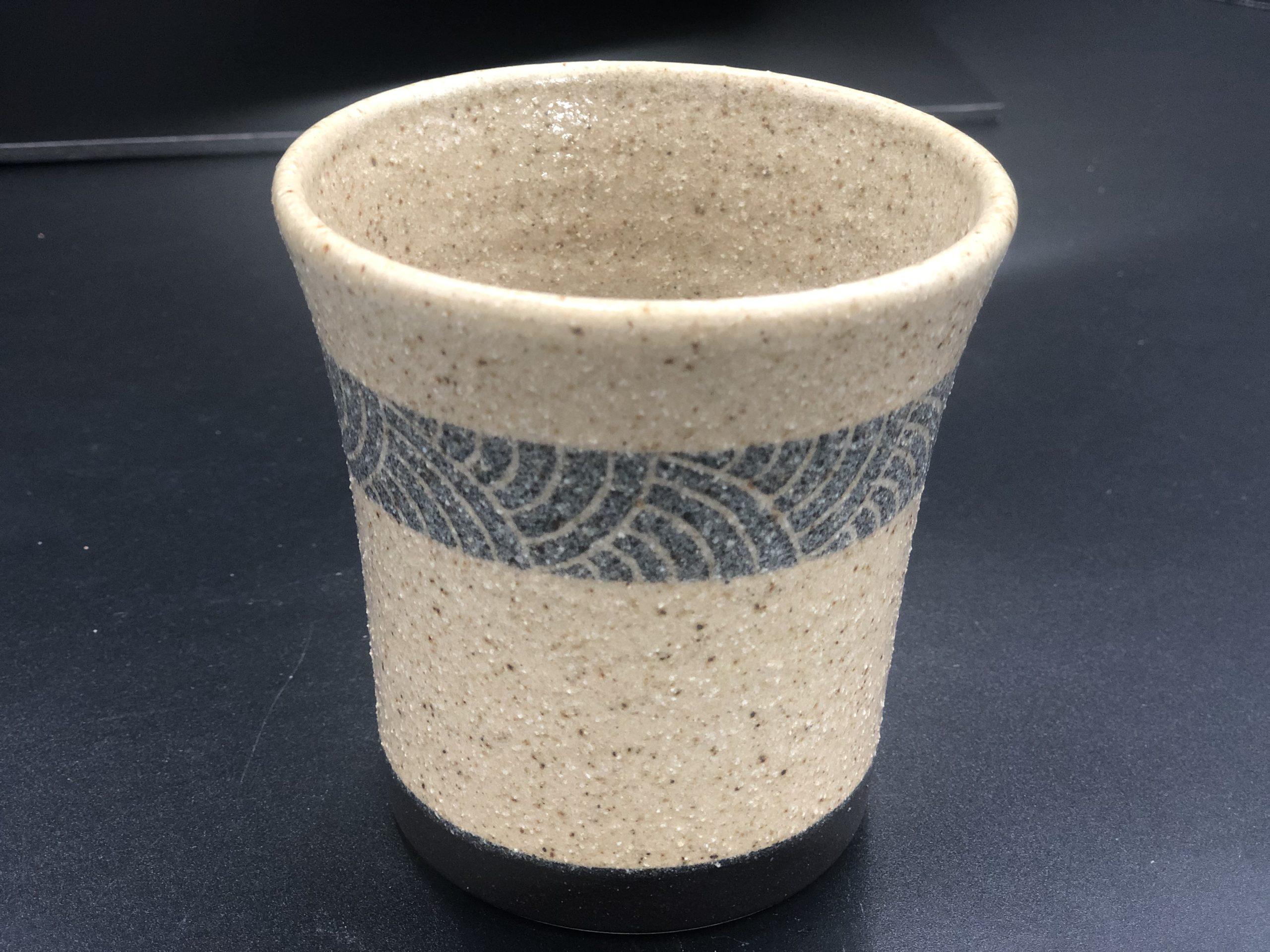 てまり窯 焼酎カップ・黒