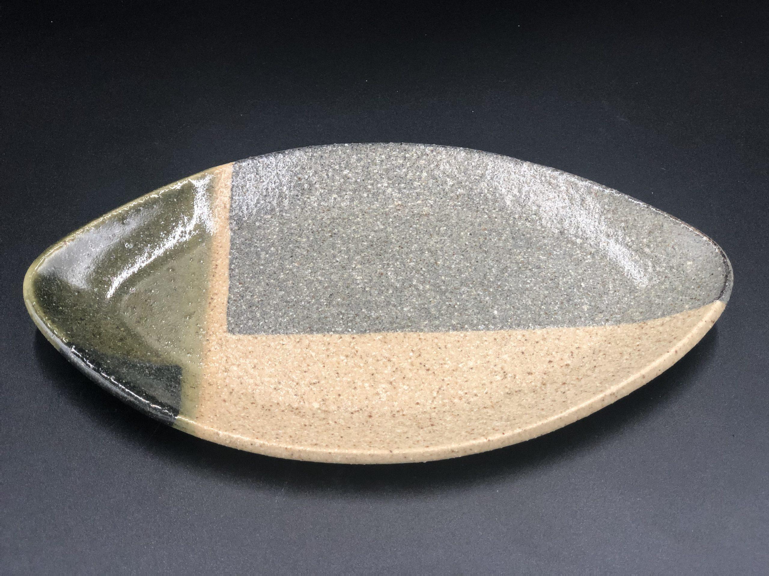 てまり窯 L23葉っぱ皿(木の葉皿)