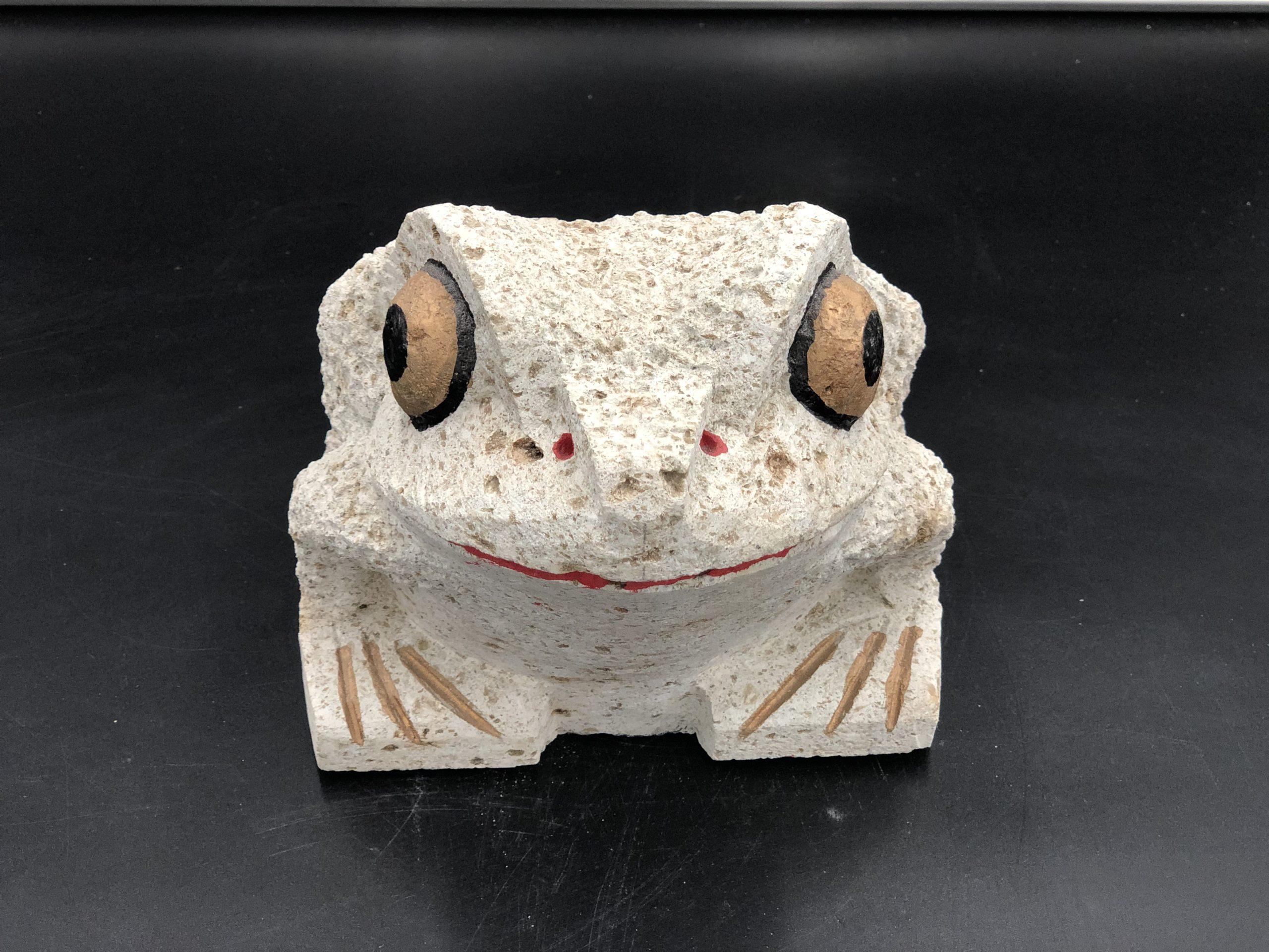 大谷石7寸カエル